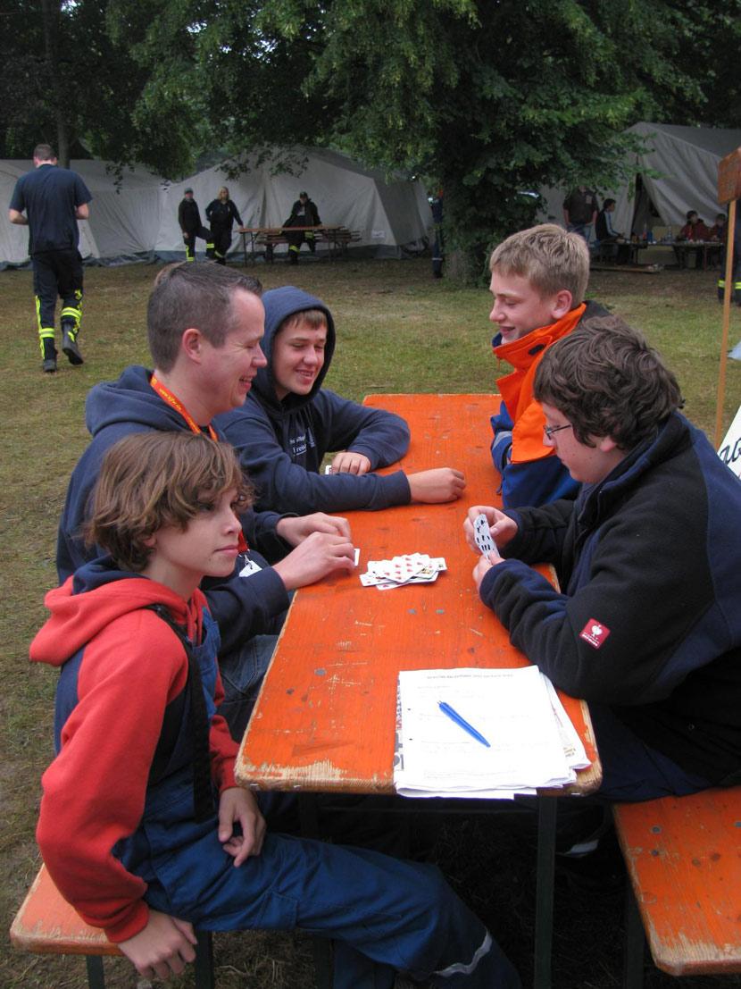 Jugendfeuerwehr beim Zeltlager der Jugendfeuerwehren