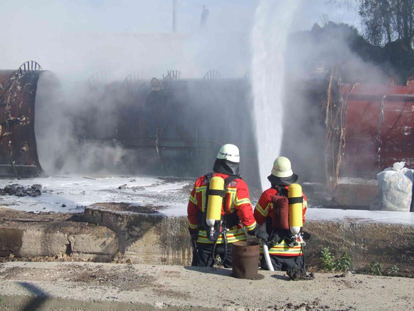 Brand 3 außerorts, Kieswerk