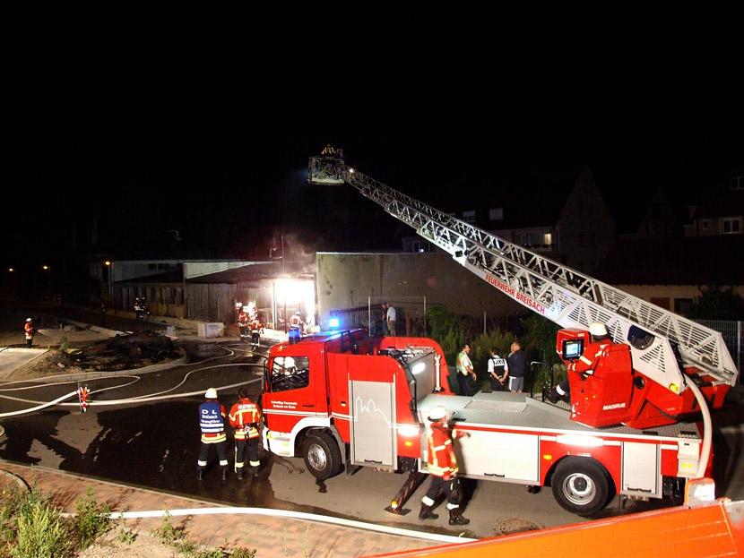 Brand in Breisacher Schreinerei