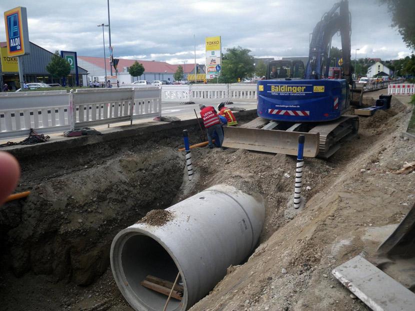 Gasleck bei Bauarbeiten