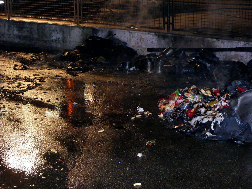 Brandstiftung Neuer Weg / Kolpingstraße